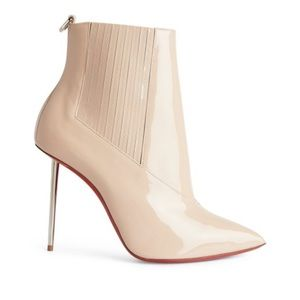 LOUBOUTIN Epic 100 patent leather ankle boots 37